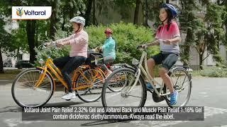 Voltarol Archie Goes Cycling. Voltarol Joint Pain Relief 2.32% Gel Advert