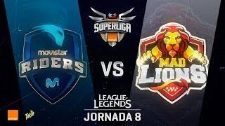 MOVISTAR RIDERS VS MAD LIONS   Superliga Orange J08   Partido 1   Split Verano [2018]