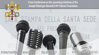 2017.09.26 - Press Conference on the upcoming initiatives of the Joseph Ratzinger Vatican Foundation