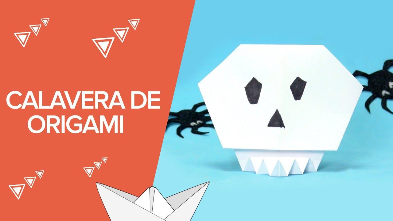 Cómo hacer una calavera de Halloween paso a paso | Origami para niños