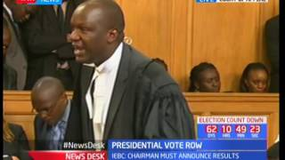 IEBC's presidential row appeal hearing underway at the Court of Appeal