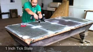 Antique Pool Table 4 Piece Slate