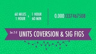 Unit Conversion&Significant Figures: Crash Course Chemistry #2