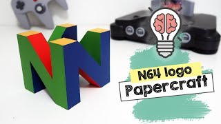 DIY Nintendo 64 Cubic Logo 3D  [ Decor Geek / Nerd / Gamer ]