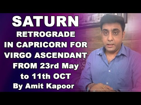 SATURN(SHANI) RETROGRADE IN CAPRICORN ♑️ FOR VIRGO ASCENDANT FROM 23rd May to 11th OCT