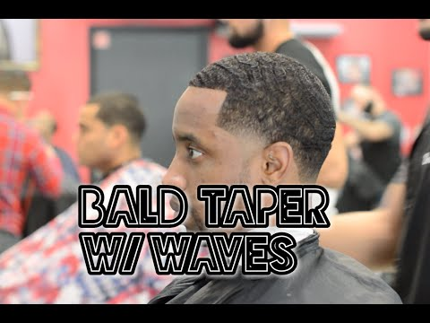 How To Fade a Bald Taper with 360 Waves | Blowout Haircut Tutorial