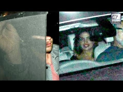 OMG! Priyanka Chopra And Boyfriend Nick Jonas Arrive In Mumbai | LehrenTV