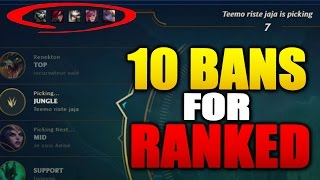 10 BANS FOR SOLO QUEUE CONFIRMED League News (League of Legends)
