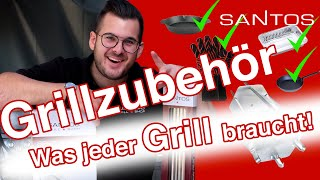 SANTOS Grillzubehör 2020 | Flammkuchen, Hähnchenschenkel, Chicken Wings, Pimentos Vorstellung & Test