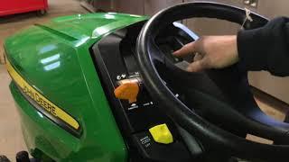 How to operate a John Deere X350
