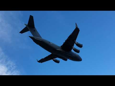 Massive Military Plane Navigates Over Australian City