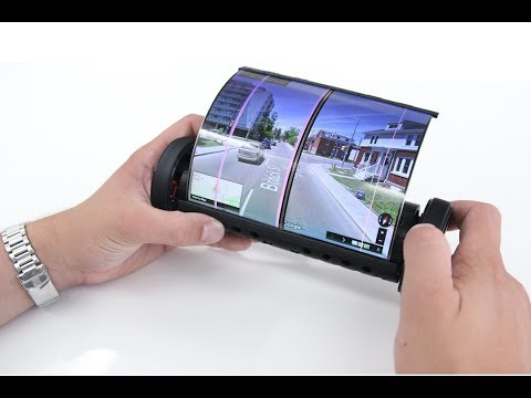 Roll up tablet with flexible screen