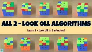 Learn 2 - Look OLL in 3 Minutes | Beginner CFOP