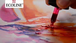 Using Ecoline colours; the new round bottle | Ecoline | Kholo.pk