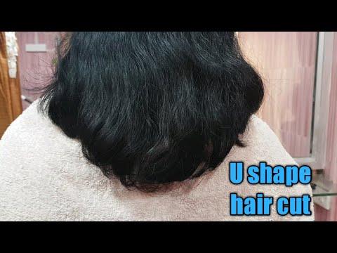 how to get a deep U hair cut/U shape hair cut/U hair cut tutorial/Easy U shape hair cut