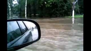 Наводнение в Киришах 13.08.2015