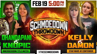 Dhandapani vs Knopic  TONIGHT by Schmoes Know