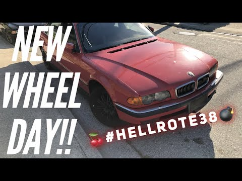 The Hellrot Individual E38 740il Gets New Wheels