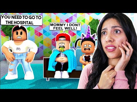 MY KIDS ARE SICK! SHOULD WE GO TO THE HOSPITAL!? - Roblox Roleplay - Bloxburg