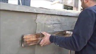 איך לעשות קיר בטון חשוף בדוגמת פירוק טפסנות