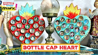 Bottle Cap Sacred Heart DIY