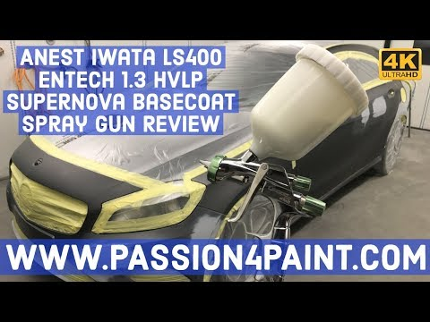 Anest Iwata LS400 ENTECH 1.3 HVLP Supernova Basecoat Spray Gun Review