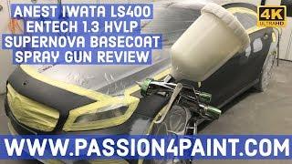 Anest Iwata LS400 ENTECH 1.3 HVLP Supernova Basecoat Spray Gun Review