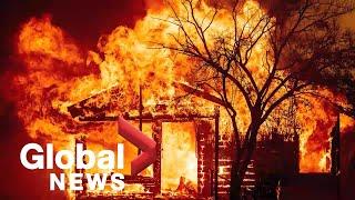 Pożary w Kalifornii: Tysiące ewakuacji nadal trwają w szalejących pożarach