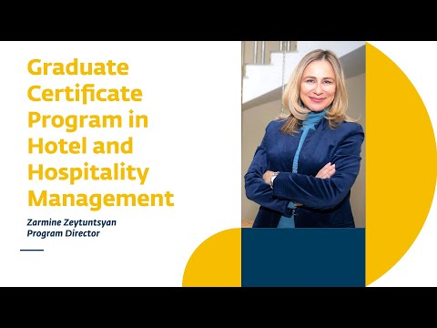 Graduate Certificate Program in Hotel and Hospitality Management ...