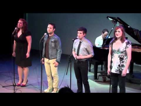 "Jenn Furman, Brett Teresa, Paul Wyatt, and Tricia Tanguy sing ""Daybreak"" by Bobby Cronin"