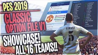 [TTB] PES 2019 - PES Universe Classic Option File V1 - Showcase Of All 16 Teams & Players!