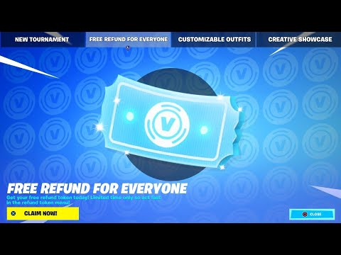FREE REFUND NOW in FORTNITE!