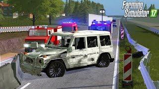 Farming Simulator 17 - Feuerwehr Einsatz - Schwerer Auto Unfall In Baustelle! 😳🚒 1/7