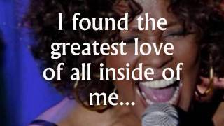 The Greatest Love Of All (lyrics)   Whitney Houston, A Tribute