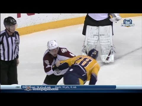 Paul Gaustad vs. Erik Johnson