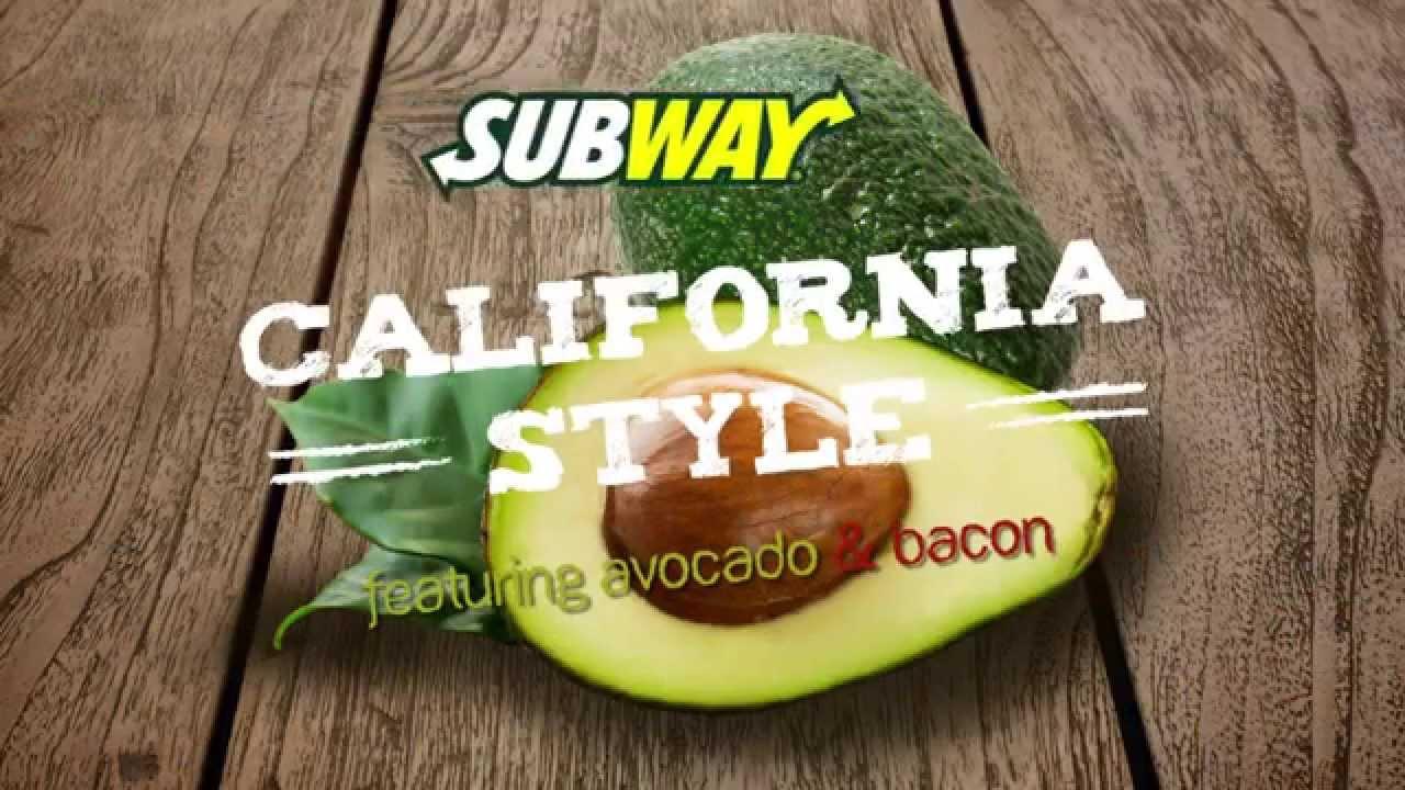 Subway Motion Graphics Ad California Fresh