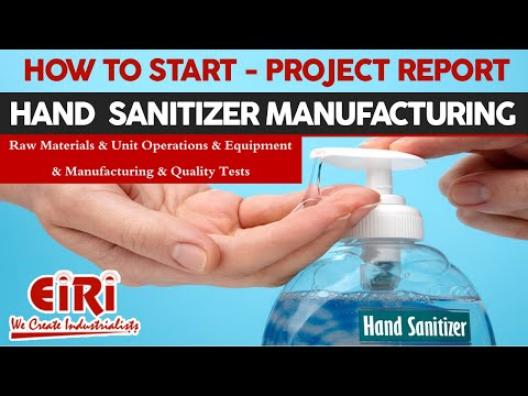 Project Report Of Hand Sanitizer Manufacturing