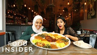 How To Eat Ethiopian Injera