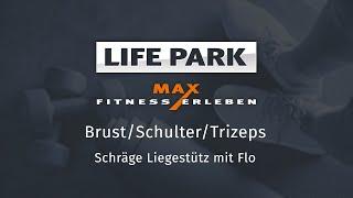 Training mit Flo 11 – Brust/Schulter/Trizeps – Schräge Liegestütz
