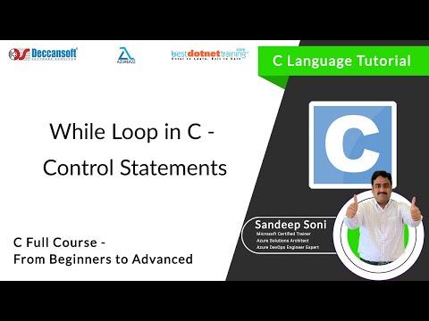While Loop statements in C Language – C Programming Tutorial