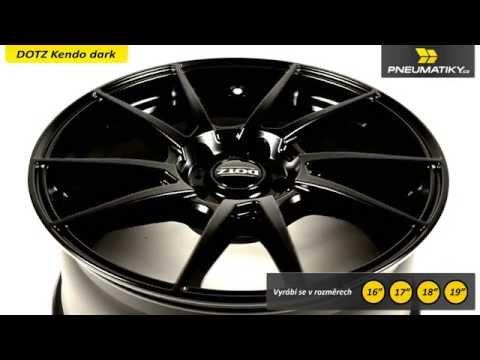 Youtube Dotz Kendo dark 7x17 4x100 ET45 Matně černý lak