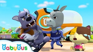 Super Policeman Catches Bad Wolf | Police Cartoon, Police Car | Nursery Rhymes | Baby Songs |BabyBus