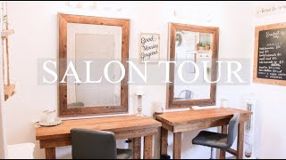 HOME SALON TOUR | MY VERY FIRST VIDEO!