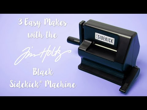 The Brand New Sizzix Sidekick Starter Kit (Black) featuring Tim Holtz Designs