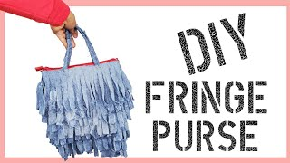 DIY How To Make A Fringe Purse