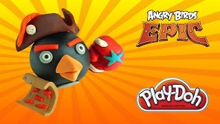 play doh angry birds epic bomb - how to make with playdoh