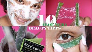 WUNDERMITTEL ALOE VERA - 10 Beauty TIPPS   PICKEL, AKNE & NARBEN   littlebeautyguru