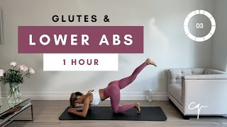 1 Hour GLUTES & LOWER ABS WORKOUT At Home   Day Three Of Five