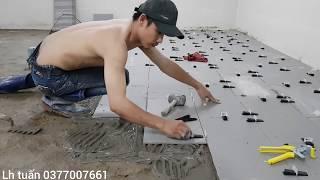 Lát gạch ke cân bằng lát chữ cong 300×600