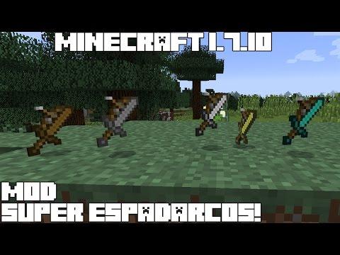 Minecraft 1.7.10 MOD SUPER ESPADARCOS! Sodacan Swows Mod Español!